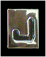 Huruf j box ukuran 8mm