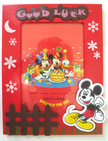 Frame Foto Warna Merah - Disney - Mickey Mouse